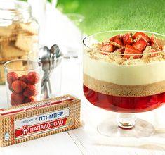 """Τούρτα με Σοκολάτα-Μαρμελάδα Βερίκοκο & """"ΠΤΙ-ΜΠΕΡ"""" ΠΑΠΑΔΟΠΟΥΛΟΥ - Hub Συνταγών - Hub Συνταγών Cheesecake, Trifle, Panna Cotta, Sweet Tooth, Recipies, Deserts, Cherry, Strawberry, Pudding"""