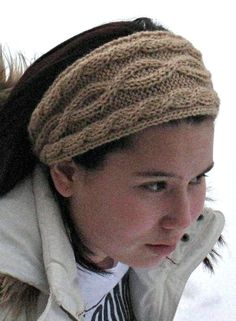Free Knitting Pattern for Julias Cabled Headband