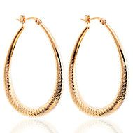 Drop Earrings Hoop Earrings Silver Plated Gold Plated Drop Silver Golden Jewelry Party Daily Casual 2pcs – USD $ 33.00