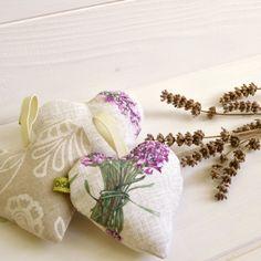 Set cuori puntaspilli stampa lavanda rosa profuma cassetti