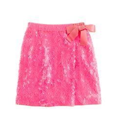Crewcuts Girls' sequin faux-wrap skirt