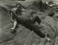 Edward Weston - Zohmah and Jean Charlot, Point Lobos, 1939 - Howard Greenberg Gallery