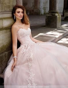 Cheap princess wedding dresses, Buy Quality pink wedding dress directly from China wedding dress Suppliers: Vestidos De Novia China Bridal Gowns Vintage Tulle Imported Ball Gown Lace Pink Wedding Dress Princess Wedding Dresses 2017