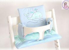 Tripp Trapp Kissen Set - muriels-nähatelier Mint, Wal, Toddler Bed, Chair, Furniture, Home Decor, Light Blue, Pillows, Nice Asses