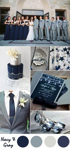 navy blue and silver wedding color ideas and pocket wedding invitations themes navy Ten Most Gorgeous Navy Blue Wedding Color Palette Ideas For 2016 Silver Wedding Colours, Wedding Color Schemes, Silver Color, Navy Color, June Wedding Colors, Silver Flowers, Marine Wedding Colors, Wedding Color Palettes, Romantic Wedding Colors