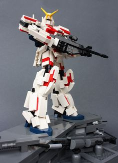 RX-0 Unicorn Gundam [Destroy Mode] | I wanted to display the… | Flickr