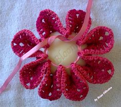 sachet: lovely idea for a crochet flower!