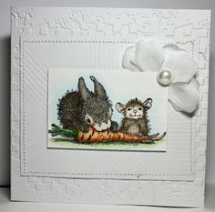 """Stamp used was House-Mouse """"Carrot Friend"""" by Stampendous. http://www.ebay.com/itm/262332204384?ssPageName=STRK:MESELX:IT&_trksid=p3984.m1555.l2649"""