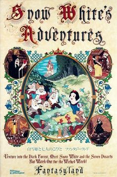 """Snow White's Scary Adventures"" Disneyland Park Poster (Walt Disney, ""Venture in two the - Available at 2017 December 9 - 10 Animation. Walt Disney, Disney Parks, Disney Rides, Disney Magic, Disney Pixar, Poster Disney, Vintage Disney Posters, Retro Disney, Vintage Cartoons"