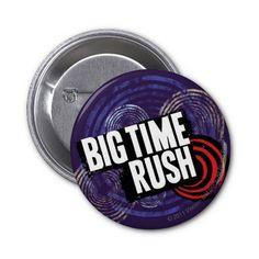 Big Time Rush Logo - Purple Pinback Buttons