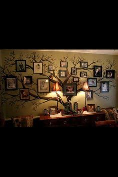 Family tree wall art  Going to do this in family room