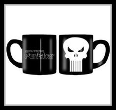 """This mug has a wicked """"Punisher Skull"""" logo. It is still going postal, long after the movie. Cool way to show your personality. http://theceramicchefknives.com/ceramic-mugs-variety/ 60th Birthday mug, 7 Piece 15-Ounce Mug Tree Set with 6 Assorted Colors, Adorable Ladybug Coffee Mug Inexpensive Gift Item, Cappuccino Mug, Cappuccino-Cup, Ceramic Day of the Dead Sugar Skull Coffee Mugs,"""