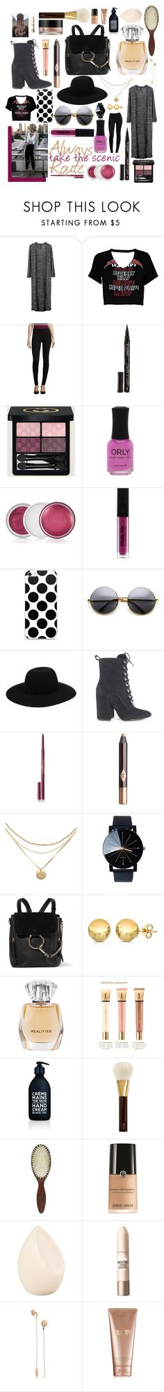 """Summer Outfit #9"" by rightpinkgirl on Polyvore featuring Taylor, Boohoo, i Jeans by Buffalo, Smith & Cult, Gucci, Clinique, Forever 21, Off-White, Kendall + Kylie and Wander Beauty"