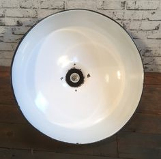 Mid Century Industrial Black Enamelled Factory Lamp, 1950s Industrial Lamps, Black Enamel, 1950s, Sink, Mid Century, Home Decor, Sink Tops, Black Polish, Vessel Sink