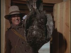 Charles makes it back from his hunting trip with a fine Christmas turkey