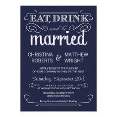 rustic nautical wedding | Rustic Typography Navy Blue Wedding Invitations - Zazzle.com.au