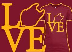 Arizona Sun Devils LOVE shirt