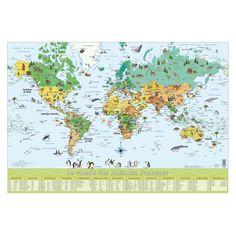 tableau decoratif carte du monde par richard unglik objets de d coration design et originaux. Black Bedroom Furniture Sets. Home Design Ideas