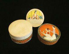 1920's Richard Hudnut Three Flowers Powder Box Vintage Powder Box Complete FULL UNUSED by PowerOfOneDesigns for $59.99