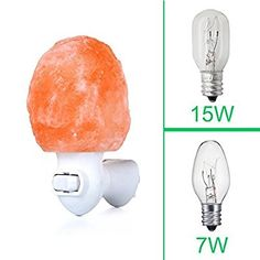 Himalayan Salt Lamp Light Bulb Hemingweigh Himalayan Salt Lamp Metal Bowl With Himalayan Salt Chips