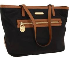 MICHAEL Michael Kors Kempton Small Tote Tote Handbags Black Nylon : One Size