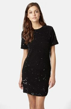 Topshop Flocked Sequin Dress available at #Nordstrom
