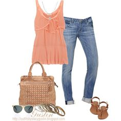 peachy, created by stacy-gustin on Polyvore