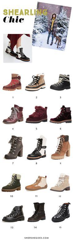 shearling boots, shearling boots woman, shearling boots outfit, shearling boots winter, hiking boots women, winter outfits, winter shoes, winter shoes boots, boots fall 2017 trends, shearling hiking boots
