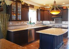 refinishing kitchen cabinets yourself   Kitchen cabinets after refinishing.