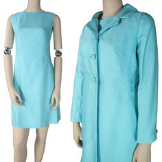 Vintage 1960's Shift Dress And Coat Ensemble