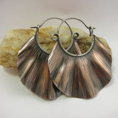 Hey, I found this really awesome Etsy listing at https://www.etsy.com/listing/79570123/large-earrings-copper-hoop-earrings-wave