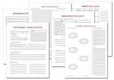 Free Printables Get organized more than 200 free printables.
