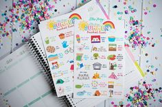 Lillie Henry Summer Bucket List Stickers! Set of 42 perfect for your Erin Condren Life Planner calendar Filofax or Plum Planner! (9.00 USD) by LillieHenry