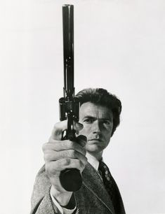 """Smith & Wesson and Clint Eastwood as """"Dirty"""" Harry Callahan on Magnum Force Clint Eastwood, Image Cinema, Cinema Tv, I Movie, Movie Stars, 44 Magnum, Magnum Force, Philippe Halsman, Tough Guy"""