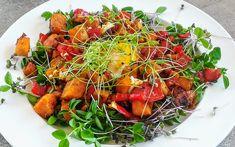 Meleg édesburgonya saláta –