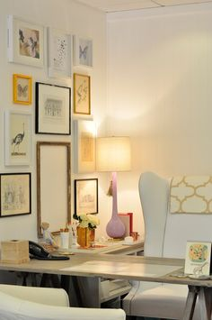 Gallery walls // home office trends