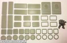 HC3D - Bits Multi Pack 40 Pieces - Building Bits - Wargames - Terrain - Scenery #HorizonCreations