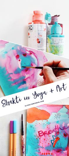 Shakti, divine creative energy, brings you closer to yourself. Yoga + Art are two powerful ways to access that energy.