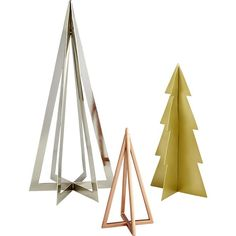 Shop tree frames.   Rock the season with this magical metallic evergreen.  Sculptural iron with flat-edge design and electroplated finish is perfectly modern and merry.