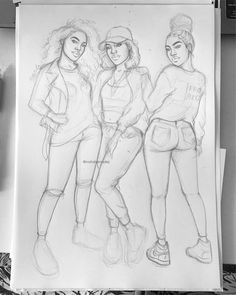 Throwback to one of my favorite sketches/drawings I did throughout the past few months ✨ Do you guys like group drawings?  #fashiondrawing #fashionillustration  #drawing #illustration #art #artist #fashionable #nataliamadej #sketch #outfits #fashionsketch #girl #model #art