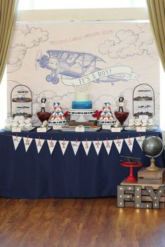 Celebrate the Impending Arrival of Precious Cargo With This Vintage Aviation Baby Shower
