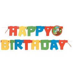 4.25ft Curious George Birthday Banner, Banners - Amazon Canada