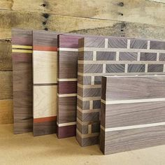 Here are some of my most popular boards of 2016 as they were in the process of being made. The brick pattern boards were a huge hit!  #woodworking