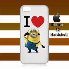 I Heart Minion Despicable Me iPhone 5c Case Cover Hardshell
