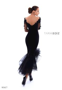 Shop The Ultimate's stylish selection of Tarik Ediz dresses and gowns at The Ultimate in Peabody, Massachusetts. Dinner Gowns, Evening Dresses, Prom Dresses, Formal Dresses, Wedding Dresses, Lace Dress Styles, Tea Length Dresses, Tulle Dress, African Fashion