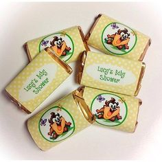 50-TAZ-BABY-LOONEY-TUNES-MINI-CANDY-BAR-WRAPPERS-PARTY-FAVORS
