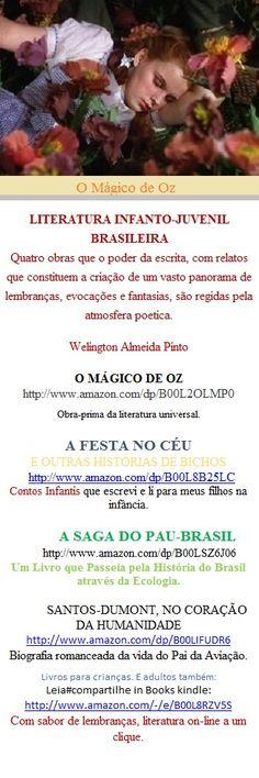 O MÁGICO DE OZ Não se trata apenas de uma tradução ou de adaptação,  mas de uma tentativa de oferecer ao texto clássico, obra-prima da literatura universal,  a dimensão de atualizada, mais de um século depois.  LITERATURA INFANTO-JUVENIL PRODUZIDA NO BRASIL  http://www.amazon.com/dp/B00L2OLMP0