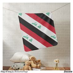 Flag of Iraq Baby Blanket