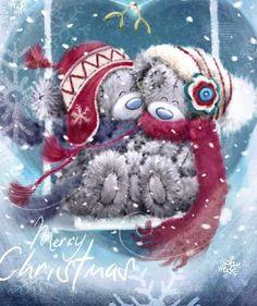 Tatty Mimi Tatty Teddy, Christmas Paintings, Christmas Art, Winter Christmas, Illustration Noel, Christmas Illustration, Teddy Bear Quotes, Teddy Pictures, Blue Nose Friends