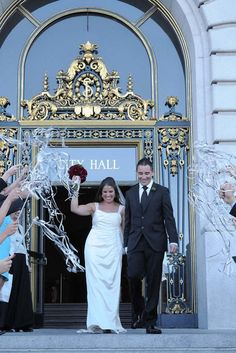 Real Wedding: Sarah & Yaz's City Hall Wedding by They So Loved Events